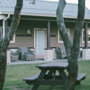 Outdoor view of The Bay Flats Building | Bay Flats Lodge Texas | Luxury Texas Lodge