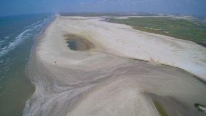 aerial view of Cedar Bayou | Bay Flats Lodge | Texas Fishing Lodge