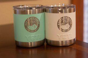 YETI mugs with the BFL logo